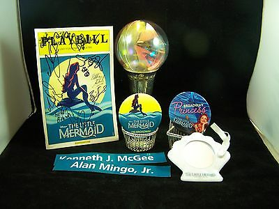 SIGNED PLAYBILL Broadway Show Package The LITTLE MERMAID Props Pins Mirror