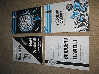 4 Bridgend Rugby Union,  New Zealand, Swansea , programmes