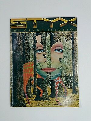 Rare! 1977 STYX The Grand Illusion Sheet Music Book Songbook Original 52 Pages