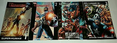 The Ultimates 1 + 2 complete marvel paperback lot 4pc