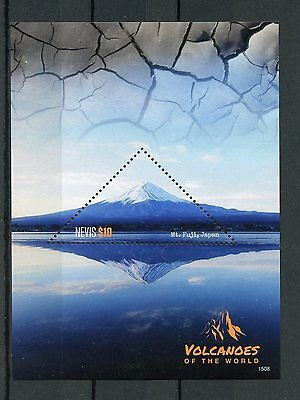 Nevis 2015 MNH Volcanoes of World 1v S/S Mount Fuji Japan Stamps