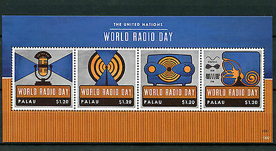 Palau 2013 MNH UN United Nations World Radio Day 4v M/S Stamps
