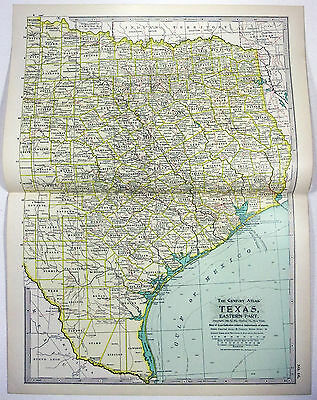 Original 1897 Map of East Texas by The Century Co