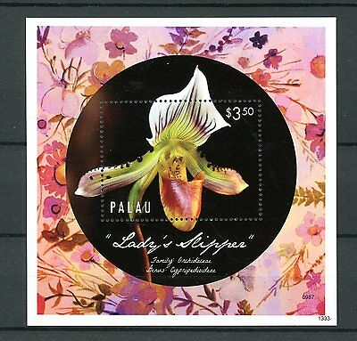 Palau 2013 MNH Orchids 1v S/S Flowers Nature Lady's Slipper Stamps