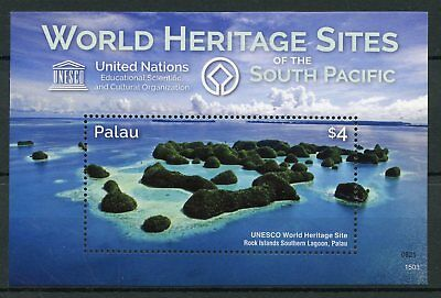 Palau 2015 MNH UNESCO World Heritage Sites South Pacific 1v S/S Tourism Stamps