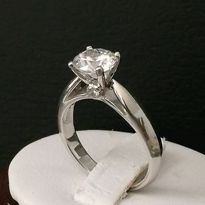 Sofia,1.25 ct solitaire engagement ring,Bridal, Silver Hallmarked 925.size K  #5