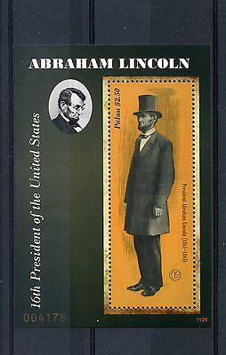 Palau 2011 MNH Abraham Lincoln 16th President of United States 1v S/S Stamps