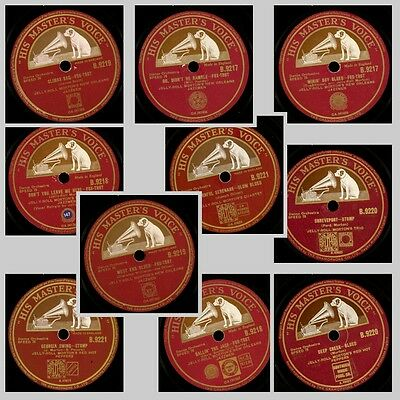 5x JELLY ROLL MORTON'S NEW ORLEANS JAZZMEN / TRIO / RED HOT PEPPERS 78rpm Set558