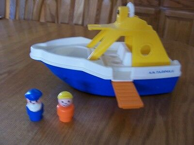 Fisher Price Little People vintage cruise boat,captain,fisherman,SS Tadpole lot