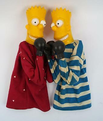 Vintage 1990's Simpson's Boxing Hand Puppets with Punching Arms - Bart Simpson