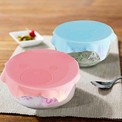 Lid Bowl Multifunctional Cartoon Silicone Plastic Wrap Sealing Cover Reusable