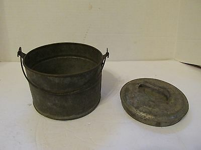 Berry Bucket Antique Vintage Old Soldered Nice Primitive