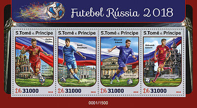 Sao Tome & Principe 2016 MNH Russia 2018 World Cup Football 4v M/S Soccer Stamps