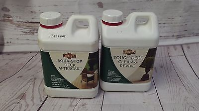 Clean & Revive Plus Decking Cleaner Tough Liberon Wood Decking After Care 2L x 2