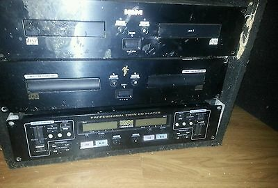 Kam dj cd mixing unit with 2 separate twin cd player units in flight box