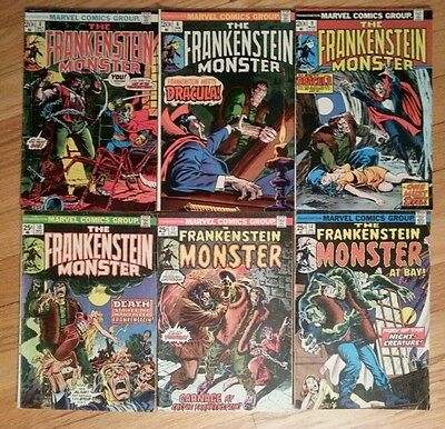 Lot of 6 FRANKENSTEIN MONSTER comics TOMB OF DRACULA appearance 6 8 9 10 11 14