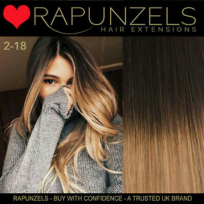 "Hair extensions weave weft, Brown to Blonde Ombre, real human remy hair 18"", 20"""