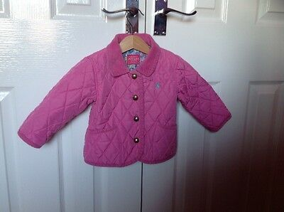Joules Baby Girl Quilted Jacket 12-18 Months