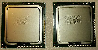 A pair of Intel Xeon L5640 6 Cores 12 Threads 2.26 GHz Processor ** SLBV8 **
