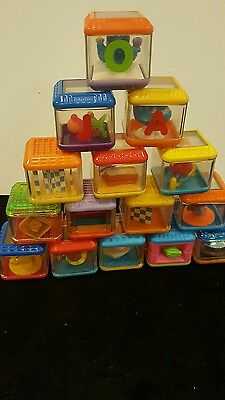 FISHER PRICE Peek A Boo Blocks Mixed Lot Of 15