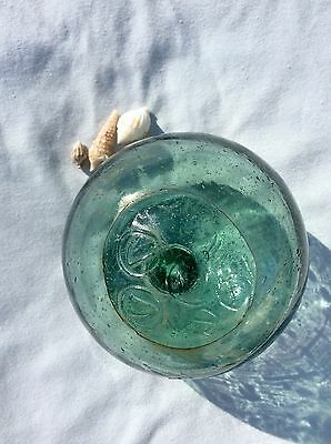 """glass fishing float, 4"""" Double-stamped float"""