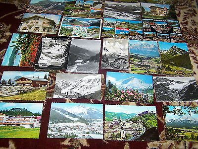 26 Postcards Switzerland Austria  and other countries  see scans