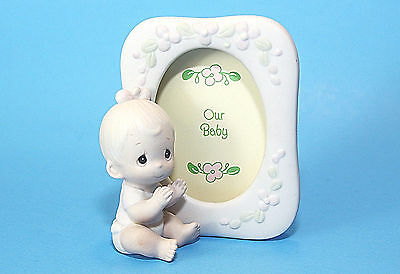 Precious Moments Picture Frame for Baby Picture, 1984, God's Precious Gift, EUC