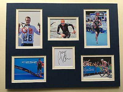"Athletics Alistair Brownlee Signed 16""x12"" Double Mounted Picture Display"