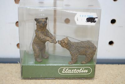Elastolin by Preiser #5414 Bear Cubs - Two Cubs Playing *G-Scale* NEW