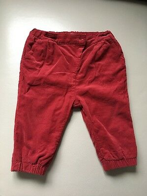 Mamas And Papas Baby Girls Velvet Trousers 9-12 Months