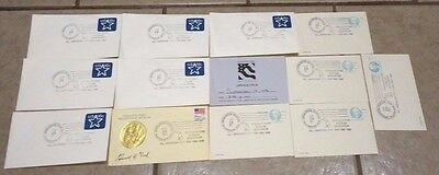 Lot 12 GERALD R. FORD Presidential Museum Dedication Station Covers, Stamps