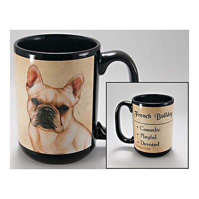 French Bulldog Faithful Friends Dog Breed 15oz Coffee Mug Cup