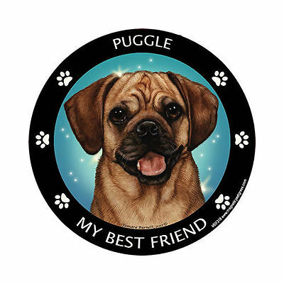 My Puggle Is My Best Friend Dog Car Magnet