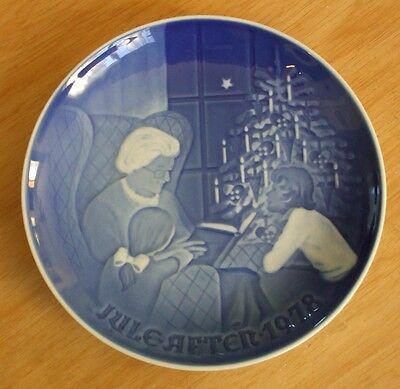 "Bing & Grondahl of DENMARK  JULE-AFTER 1978 Christmas Plate ""A Christmas Tale"""
