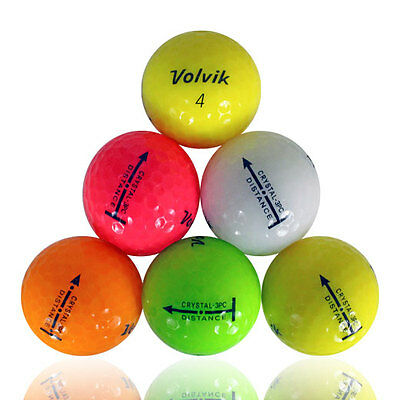 120 Volvik Distance Color Mix Mint Used Golf Balls AAAAA