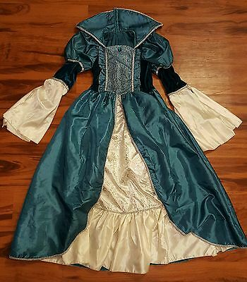 Girls Medieval Masquerade Teel Costume Dress Size 10-12