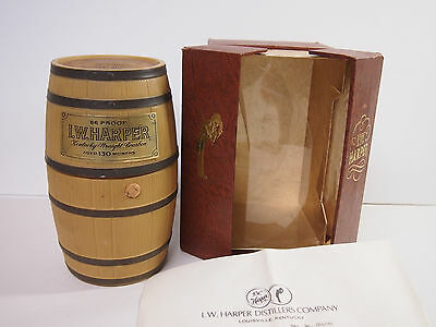 Vintage I.w Harper Kentucky Straight Bourbon Whiskey Empty Decanter And Box 1973