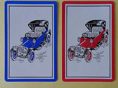 Pair Of Old Vintage Cars  , Swap  Playing  Cards..