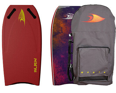 "Manta Alien 42"" Towable Bodyboard Rust Red"