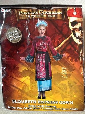 Disneys Pirates Of The Caribbean At World's End Elizabeth Empress Gown Halloween