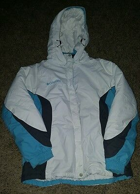 Columbia women's size M white insulated fleece lined hooded winter jacket
