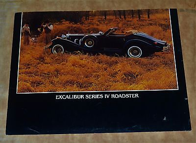 VTG 1981 or 82 Advertising Excalibur Series IV Roadster N