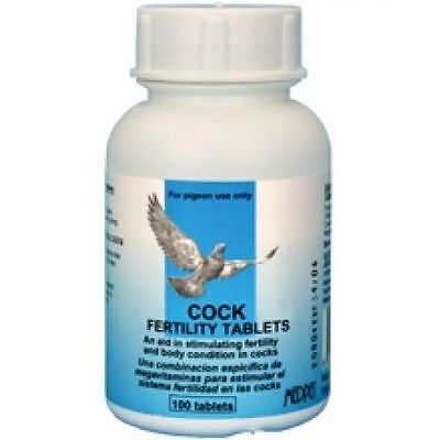 COCK FERTILITY TABLETS 50 ct (Medpet) for Racing Pigeons