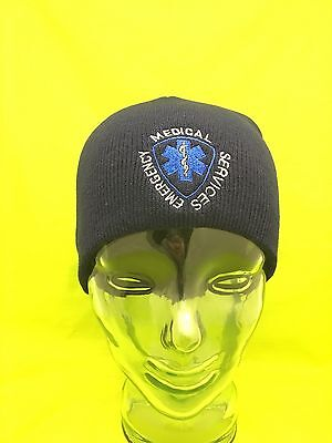 NEW Embroidered Emergency Medical Technician Navy Medical EMT Knit Beanie Cap