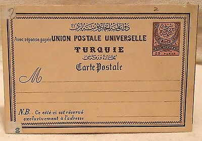 An Unused Postage Paid Card Ottoman Empire And Stamped Syrian Post Card 1915