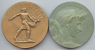Society of Medalists (1932) #5 Man Soweth / Reap, & #6, Aphrodite / Torch Race