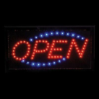 """Open"" LED Sign [10in x 19in] (included wall power)"