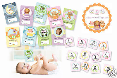 NEW Baby Shower Gifts - Baby Milestone Cards by Milestones2Capture. 21 Card Pack