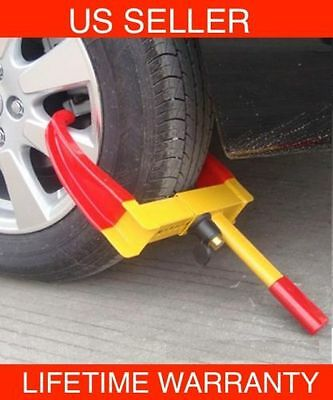 C09-Wheel Lock  Auto Car Clamp Boot Tire Claw  Trailer Truck Anti-Theft Towing