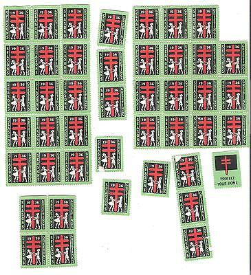 Collection of 1936 Canadian Christmas seals LOT 1